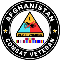 1st Armored Afghanistan Campaign with ribbons