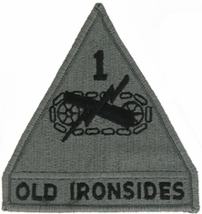 1st Armored Division ACU Velcro Patch
