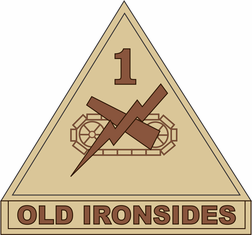1st Armored Division Desert Camo Decal