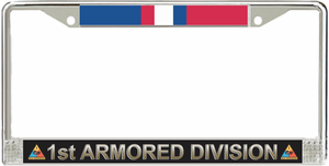 1st Armored Division Kosovo Veteran Service Ribbon License Plate Frame