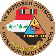 1st Armored Division OIF Decal