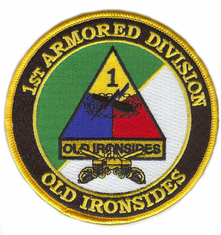 1st Armored Division with Sabres Patch