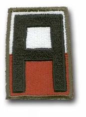 """1st ARMY MILITARY (NO SEWN EDGE) 3 ¼"""" PATCH"""
