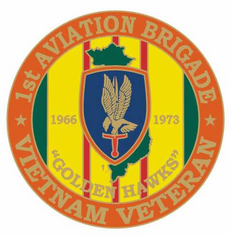 "1st Aviation 1 1/8"" Vietnam Veteran Lapel Pin"