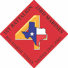 1st Battalion 23rd Marines Decal