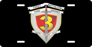 1st Battalion 3rd Marines License Plate