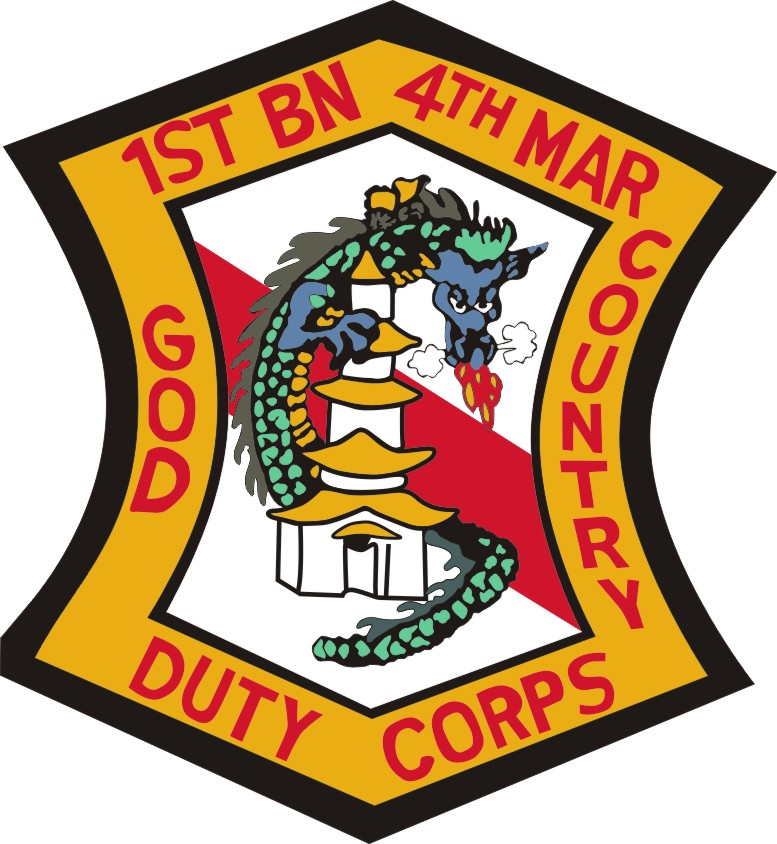 1st Battalion 4th Marines Decal Sticker