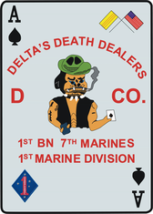 1st Battalion 7th Marines 1st Marine Division Decal Sticker
