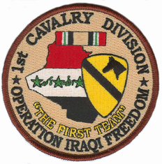 "1st Cavalry 4"" Operation Iraqi Freedom Patch"
