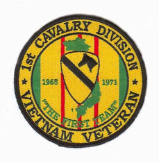 "1st Cavalry 4"" Vietnam Veteran Patch"