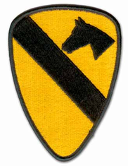 "1ST CAVALRY 5¼"" MILITARY PATCH"