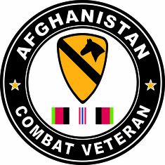 1st Cavalry Afghanistan Campaign with ribbon