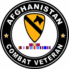1st Cavalry Afghanistan Campaign with ribbons