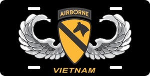 1st Cavalry Airborne Vietnam Wings License Plate