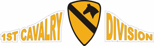 1st Cavalry Contour Decal