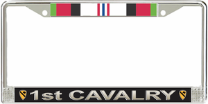 1st Cavalry Division Afghanistan Veteran Service Ribbon License Plate Frame