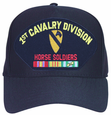 1st Cavalry Division 'Horse Soldiers' with Patch and Vietnam Ribbons Ball Cap