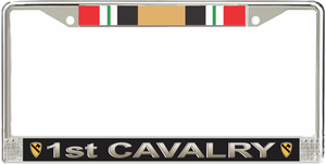1st Cavalry Division Iraq Veteran Service Ribbon License Plate Frame