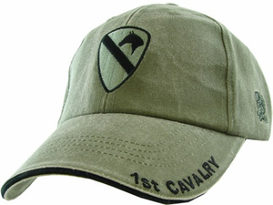 1st Cavalry Division OD Green Ball Cap