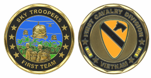 1st Cavalry Division 'Sky Troopers' Vietnam Veteran Challenge Coin