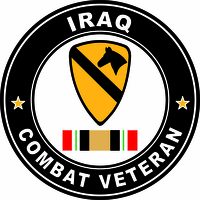 1st Cavalry Division Sticker Iraq Combat Veteran Operation Iraqi Freedom OIF Decal Sticker