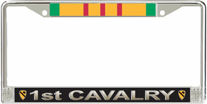 1st Cavalry Division Vietnam Veteran Service Ribbon License Plate Frame