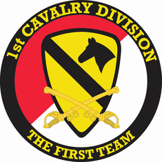 1st Cavalry Division with Sabres Decal