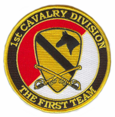 1st Cavalry Division (with Sabres) Patch