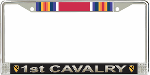 1st Cavalry Division WW2 Veteran Service Ribbon License Plate Frame