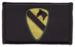 1st Cavalry Hook and Loop Black Patch