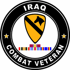 1st Cavalry Iraq Campaign with ribbons