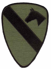 "1st Cavalry Subdued 5¼"" Military Patch"