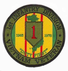 "1st Infantry 4"" Vietnam Veteran Patch"