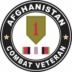 1st Infantry Afghanistan Campaign with ribbon