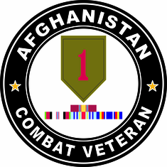 1st Infantry Afghanistan Campaign with ribbons