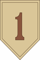 1st Infantry Division Desert Camo Decal