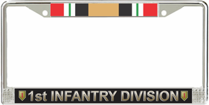 1st Infantry Division Iraq Veteran Service Ribbon License Plate Frame