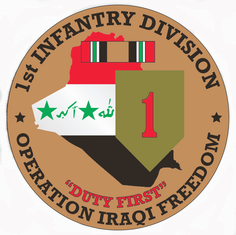 1st Infantry Division OIF Decal