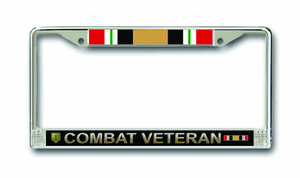 1st Infantry Division Operation Iraqi Freedom Combat Veteran License Plate Frame