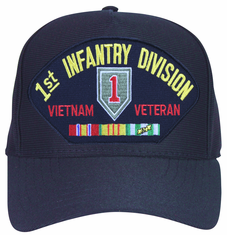 1st Infantry Division Vietnam Veteran with Patch and Ribbons Ball Cap