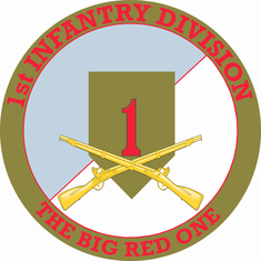 1st Infantry Division with Crossed Rifles Decal