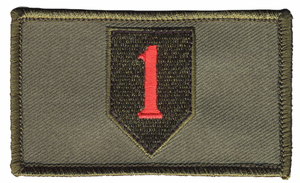 1st Infantry Hook and Loop OD Green Patch