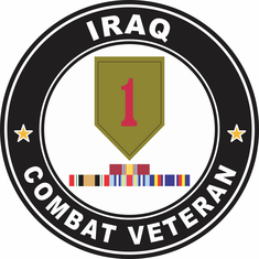 1st Infantry Iraq Campaign with ribbons