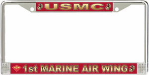 1st Marine Air Wing License Plate Frame