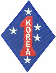 1st Marine Corps Division Korea Patch