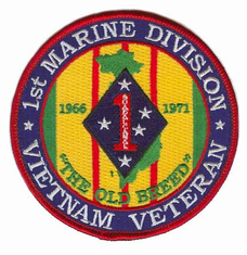 "1st Marine Corps Division 4"" Vietnam Veteran Patch"