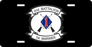 1st Marine Division 2nd Battalion 1st Marines License Plate