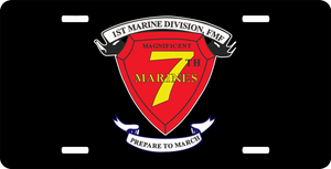 1st Marine Division 7th Marine Regiment AKA RCT-7 License Plate