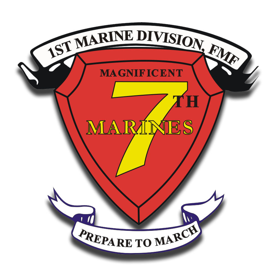 1st Marine Division 7th Marine Regiment AKA RCT-7 Sticker ...