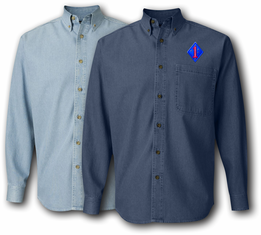 1st Marine Division Denim Shirt